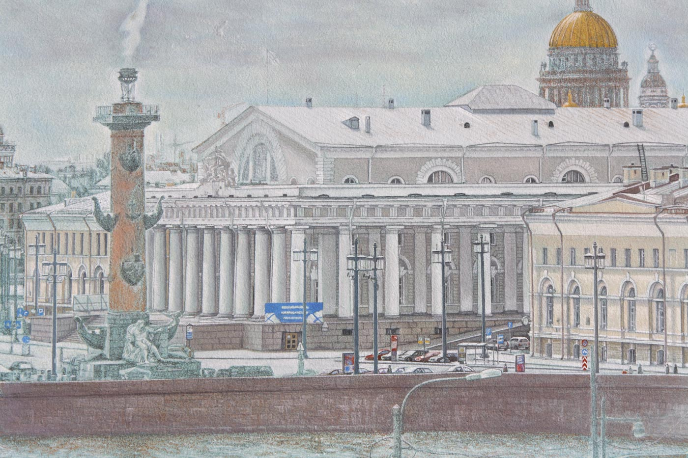 Panorama St. Petersburg from Mytninskaja Nab. Underpainting Excerpt 3