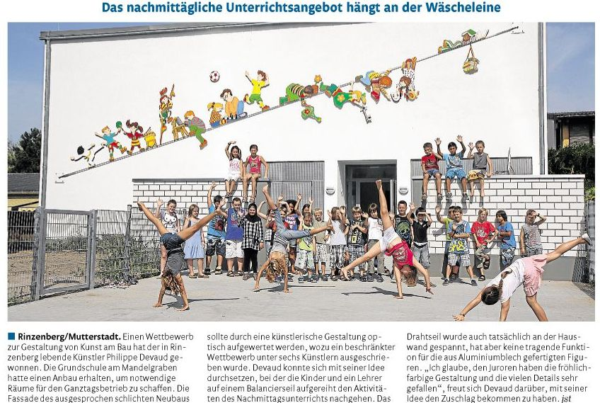 Newspaper article primary school Mandelgraben Mutterstadt